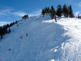 Ready to ski the ridge, Taos Ski Valley
