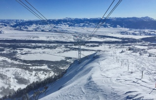 View from Aerial Tram, Jackson Hole WY