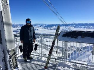 Bob atop Aerial Tram, Jackson Hole WY