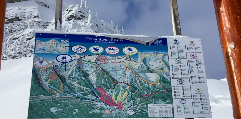Fernie trail map