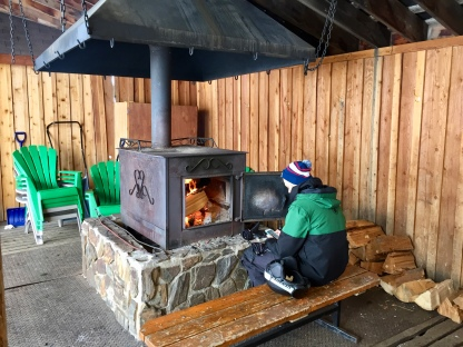 Warming stove atop Fernie