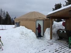 Warming yurt at Fernie