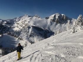 Chris, skiing the Hobacks Jackson Hole WY