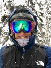 Yes, it has been snowing all day...selfie in the trees at Revelstoke.