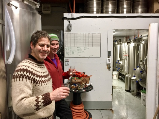 Mike and Randy, Crossroads Brewing Nelson BC