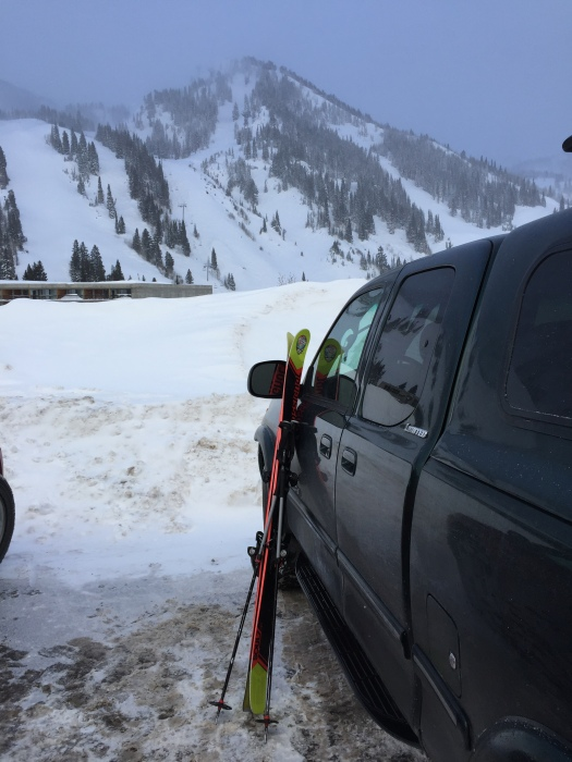 The trusty Tundra in parking lot 4 at Snowbird
